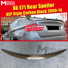 X6 E71 Spoiler Lip Tail Wing P Style Real Carbon Fiber For BMW X Series E71 Auto Car Rear Trunk Diffuser Stem Spoiler 2009-2014 x6 e71 carbon fiber car rear trunk lip spoiler wing for bmw 2008 2013
