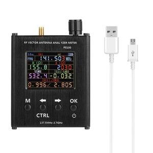 Image 5 - Ps100 137.5 mhz analisador de antena de 2.7 ghz medidor de onda permanente testador de antena rf analisador de impedância de vetor