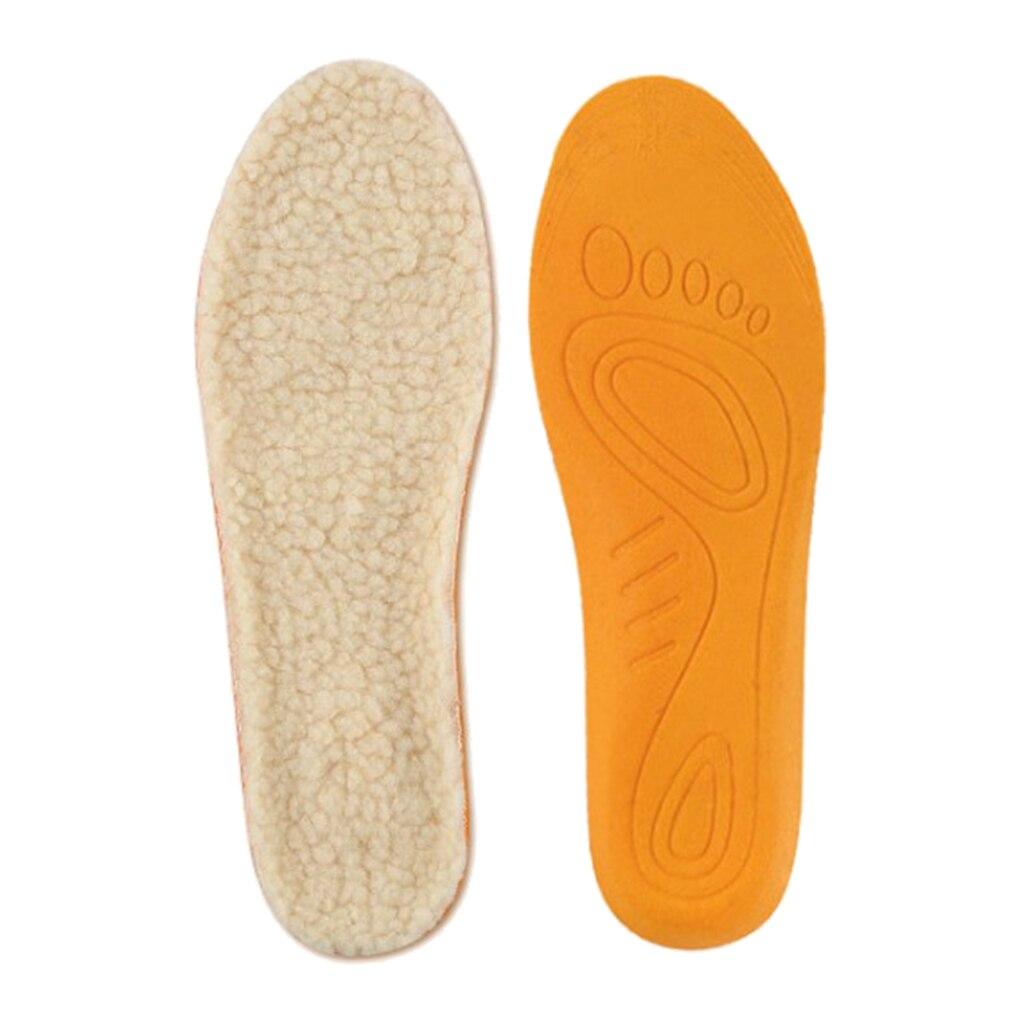 Soft Cotton Unisex Winter Warm Foot Insoles Cozy Shoes High Heels Inserts Beige