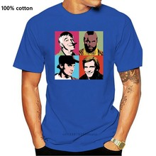 Camiseta Retro del equipo A de los 80, camiseta de Hannibal de Ba Murdock, todas las tallas, 73 colores, Retro, cuello redondo