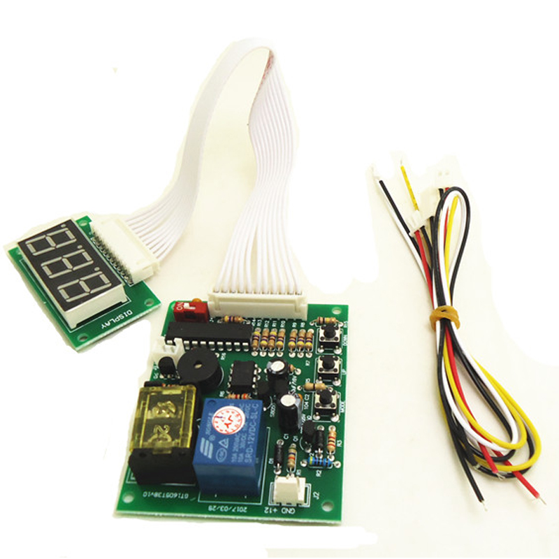 JY-17B 3-digits Timer Board Coin Operated Timer Control Board Power Supply For Coin Acceptor Selector Device Washing Machines