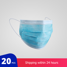 20 PCs Protective Medical Surgical Mask Non woven Dust Mask Thickened Disposable Surgical Mask 3 layer Face Mask