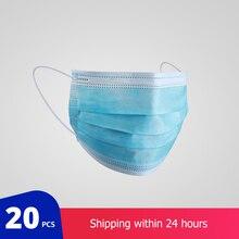20 sztuk ochronne medycznych maska chirurgiczna włókniny maska przeciwpyłowa zagęszczony jednorazowa maska chirurgiczna maska chirurgiczna 3 warstwa twarzy maska