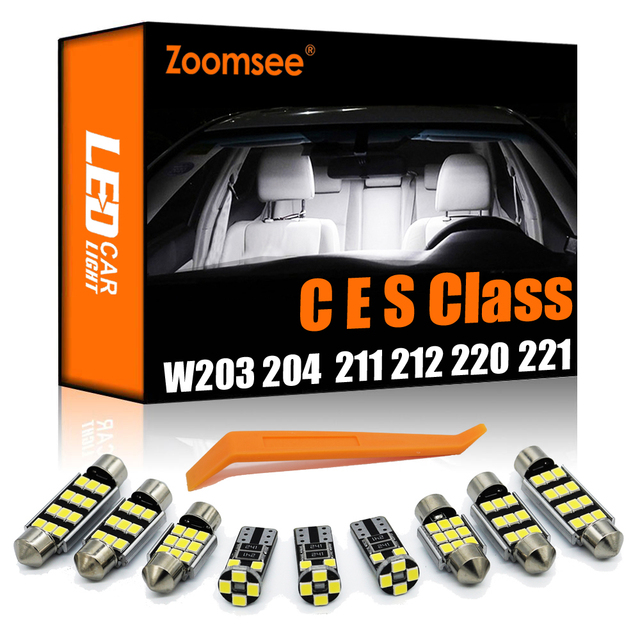 Zoomsee Canbus For Mercedes Benz MB C E S M Class W202 W203 W204 W210 W211 W212 W220 W221 Car LED Interior Dome Door Light Kit
