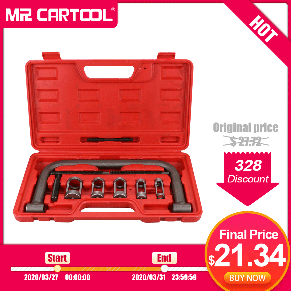 MR CARTOOL Car Engine Cylinder Head Valve Spring Compressor Remove Install Tool Clamp Set ATVs Installer Removal Tool Motorcycle