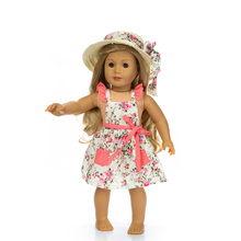 Born New Baby Fit 18 inch 40cm-43cm Doll Clothes Straw Hat and Flower Skirt Swimming SuitAccessories For Birthday Gift