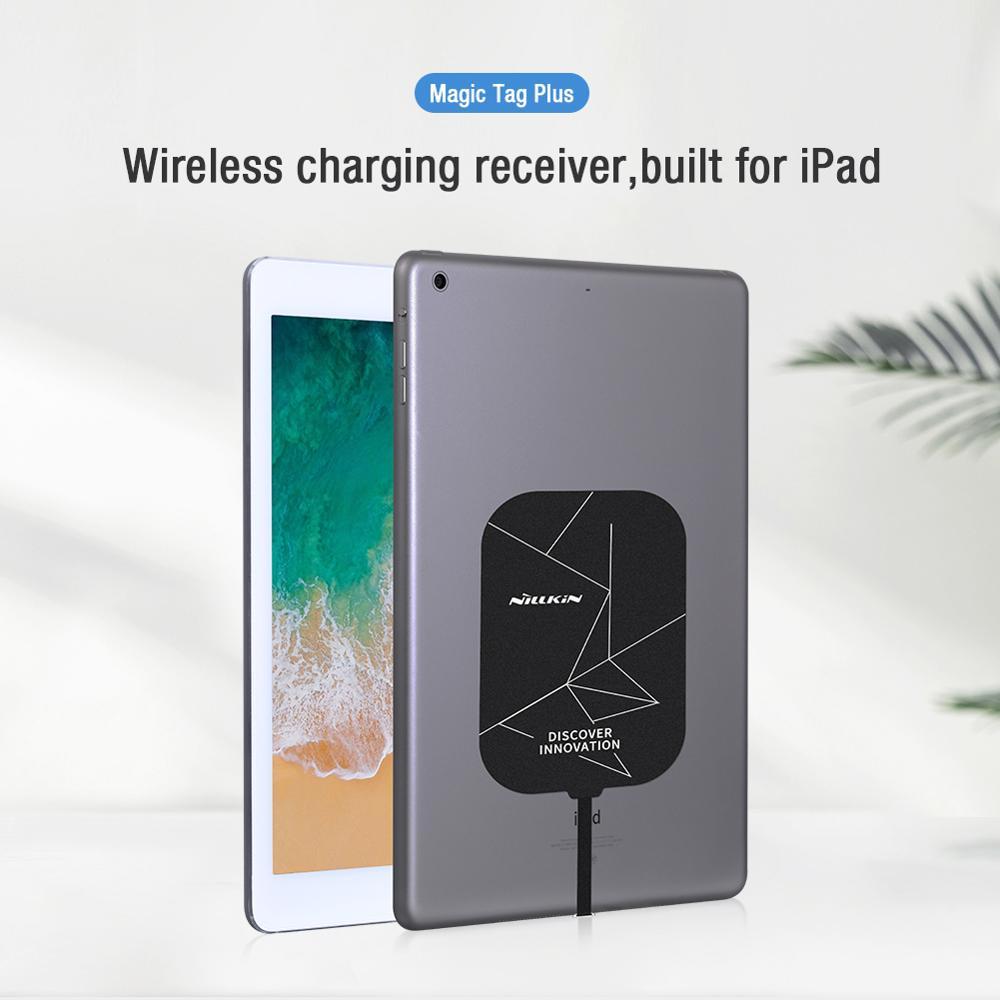 Wireless Charging Receiver For ipad 10.2 9.7 10.5 mini 10.9 Nillkin Magic Tag Qi Wireless TYPE C Receiver for iPad Pro 11 12.9