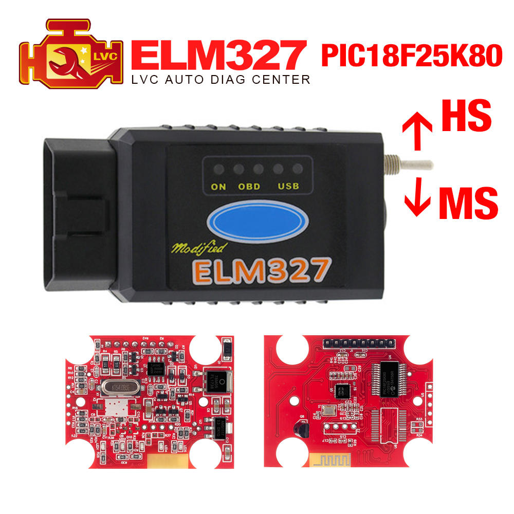 V1.5-Modified-Scanner Code-Reader 25k80-Chip Ford Forscan Elm327 Usb Hs-Can/ms-Can CH340