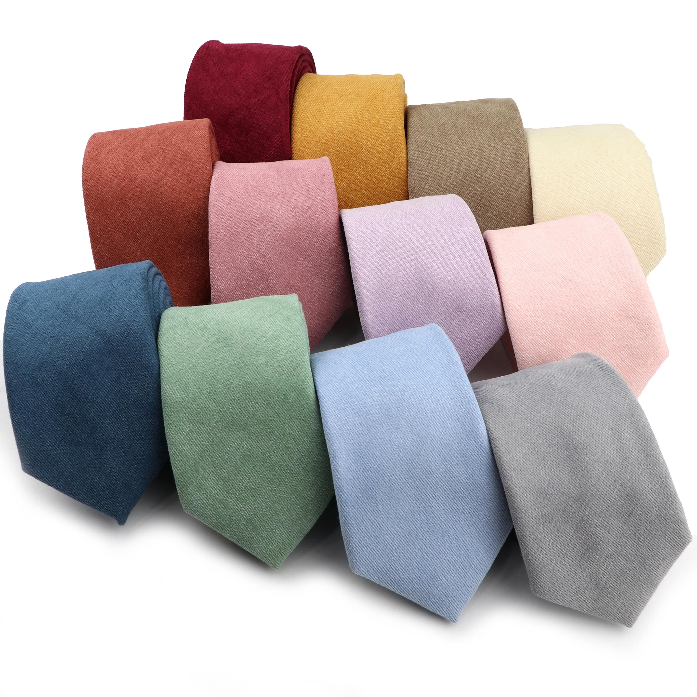 Мужской однотонный Цвет галстуком-бабочкой мягкие пушистые замшевые Цвет Фул красный синий, серый зеленый 7 см хлопчатобумажный галстук дл...