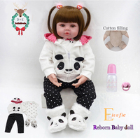 Bebe Reborn doll 19''soft silicone cute baby doll Boneca boy female doll Brinquedos Lovely reality bebe Surprise doll