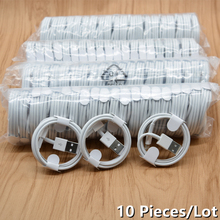 10PCS/Lot 1m Fast Phone Charging Cable For iPhone 11 PRO X XS MAX XR 5 5S SE 6 6S 7 8 Plus ipad mini air 2 Charger Line Wire