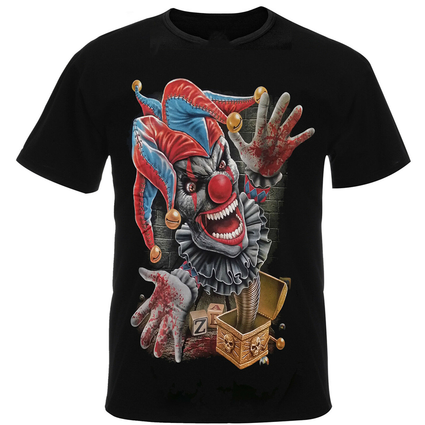 Evil Psychotic Clown Jack In A Box <font><b>Pennywise</b></font> It Metal <font><b>Tshirt</b></font> Tee Shirt Top Rm19T New Unisex Funny Topstee Shirt image