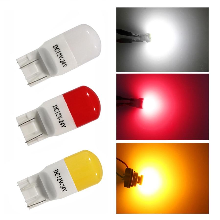 NHAUTP 2 шт T20 светодиодный керамические лампы 7440 7443 W21/5w W21W 3030 автомобильный тормоз/сигнал поворота/фонари заднего хода ДРЛ Автомобильная Лампа...
