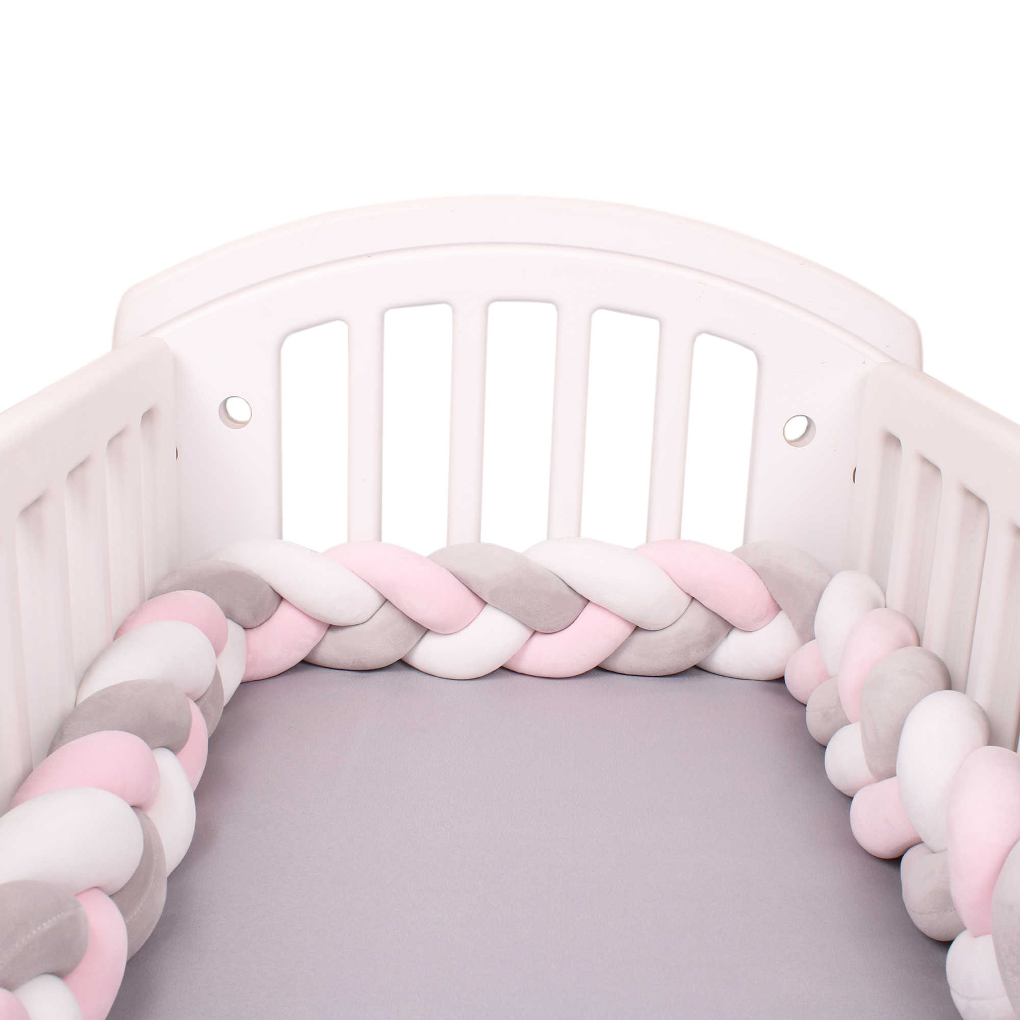 Baby Crib Bed Bumpe,Bedside Protector Baby Nursery Bedding Cradle Decor Soft Knotted for Toddler//Newborn Green, 2.2m