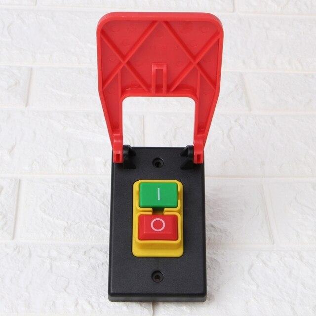 Interruptor de botão de pressão eletromagnético paddle switchvoltage proteção serras de mesa atacado dropshipping