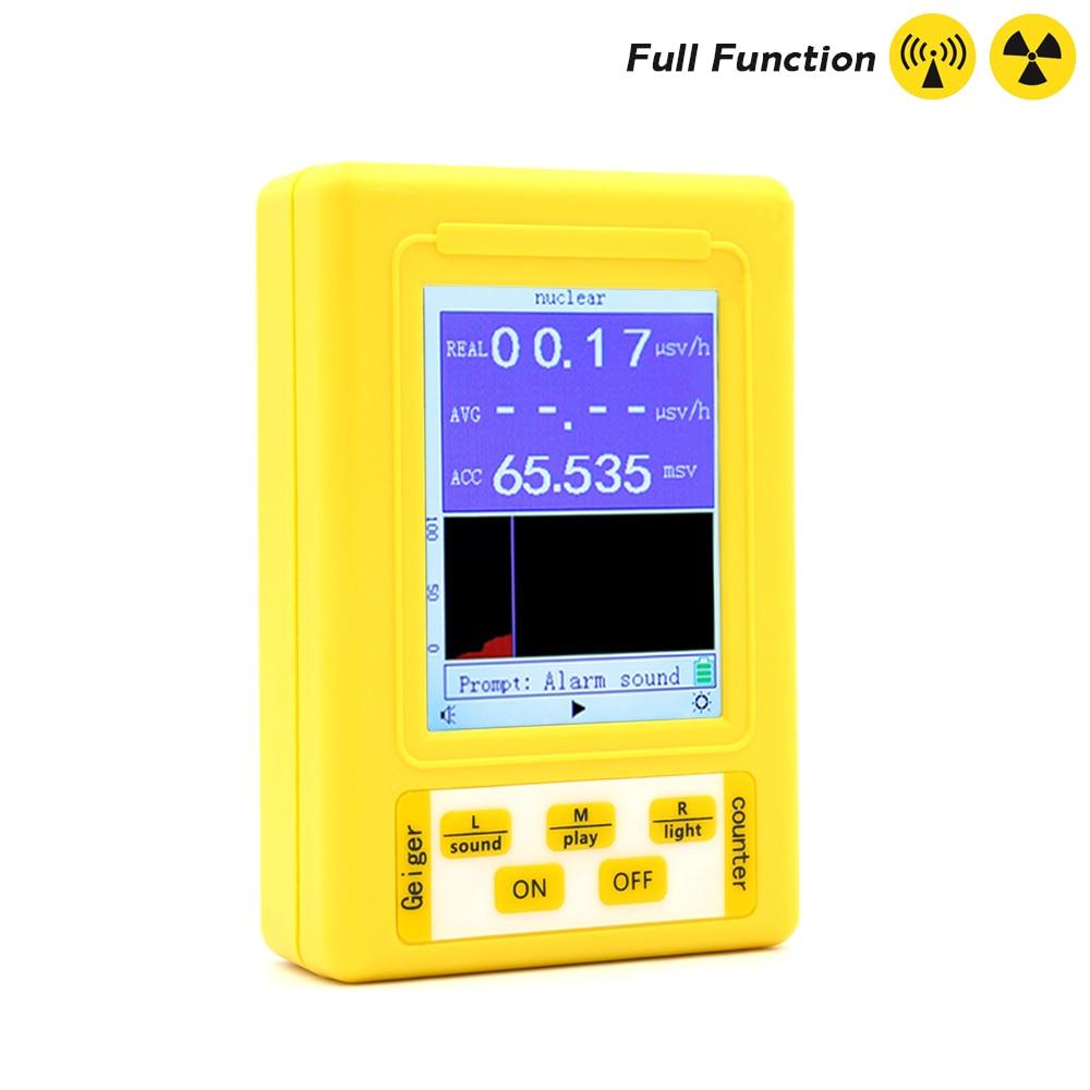 BR-9 Series Electromagnetic Radiation Nuclear Detector EMF Handheld Digital Display Geiger Counter Full-functional Type Tester