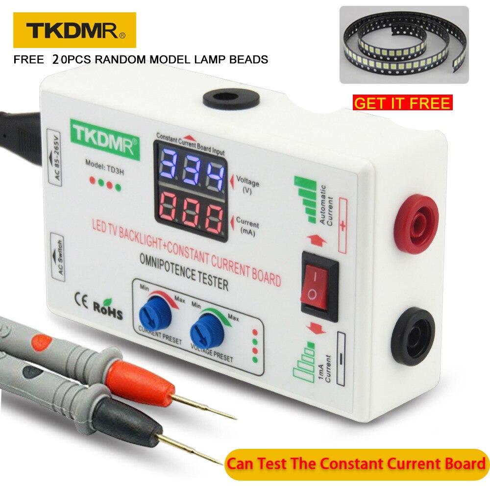 TKDMR 0-330V Smart-Fit Ajuste Manual Placa de TV LED Backlight Tester Atual Tensão Constante Ajustável Atual grânulo Da Lâmpada LED