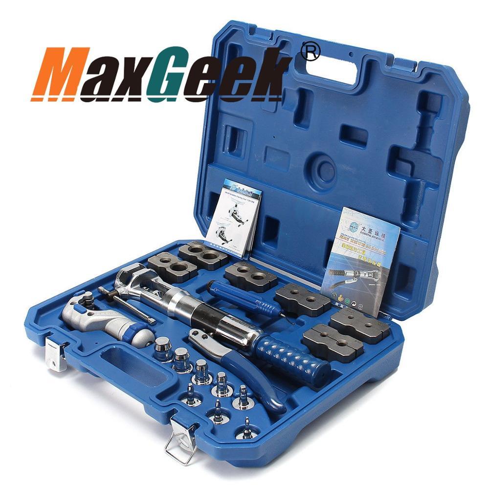 Maxgeek Universal Hydraulic Expander & Flaring Tool Brake Pipe Fuel Line Kit WK-400