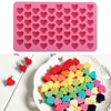 55 Holes Love Heart Shaped Non-stick Silicone Chocolate Fondant Cake Mold Jelly Ice Cube Tray Mould Kitchen Baking Tool dropship