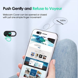 Image 5 - YKZ Mobile Phone Privacy Sticker WebCam Cover Shutter Magnet Slider Plastic For iPhone Web Laptop PC iPad Tablet Camera Cover