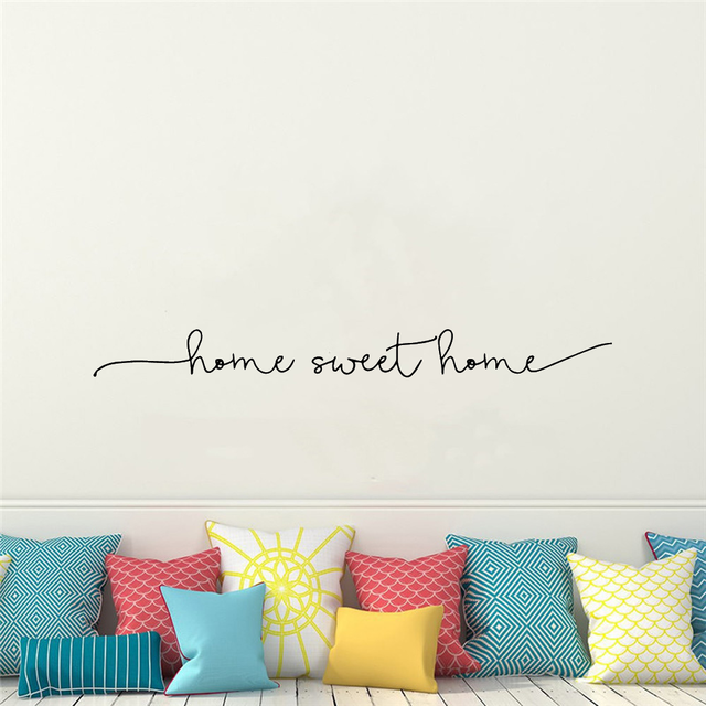 Home Sweet Home Phrase Wall Sticker 10