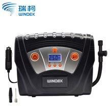 WINDEK sprężarka powietrza samochodowa cyfrowa pompa nadmuchiwana kompresor 12V Preset ciśnienie w oponach Auto Stop pompy samochodowe do samochodów