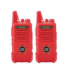2pcs custodia in pelle WLN di KD C1 più Mini Walkie Talkie UHF 400 470 MHz Con 16 Canali Two Way Radio FM ricetrasmettitore KD C1 Più