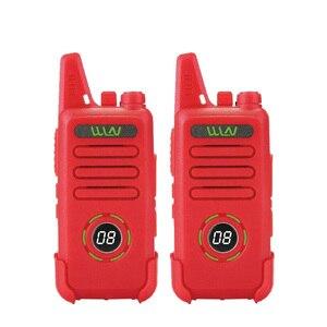 Image 1 - 2pcs custodia in pelle WLN di KD C1 più Mini Walkie Talkie UHF 400 470 MHz Con 16 Canali Two Way Radio FM ricetrasmettitore KD C1 Più