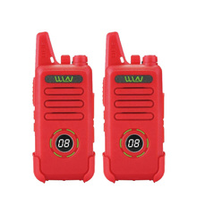 WLN Mini Walkie Talkie KD C1 plus, UHF 400 470 MHz, 16 canales, Radio bidireccional, transceptor FM, KD C1 Plus, 2 uds.
