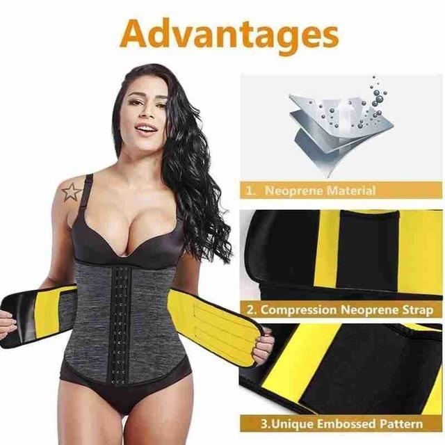 Body Shaper Waist Tummy Control Belt Sauna Slimming Strap Fitness Sweat Shapewear for Fat Burner Shaping Underwear Waist Cincher 1