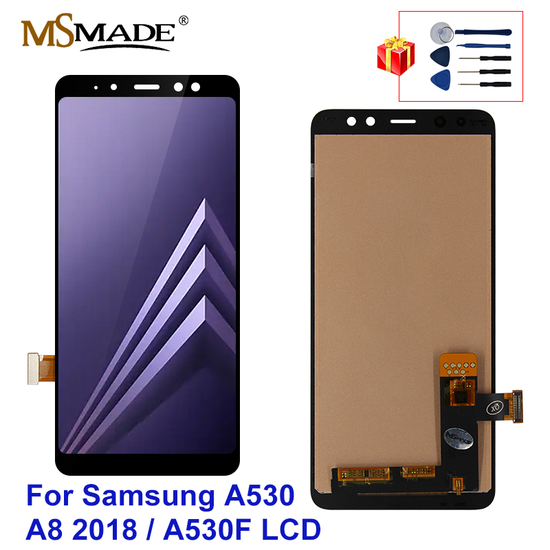 5.6'' LCD For Samsung Galaxy A8 2018 LCD A530 Touch <font><b>Screen</b></font> Digitizer Assembly For <font><b>A530F</b></font> A530N LCD <font><b>Screen</b></font> <font><b>Replacement</b></font> Parts image
