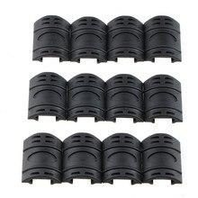 цена на New 12 Pcs 1 set  New Tactical Weaver/ Picatinny Black Khaki Rubber Handguard Quad Rail Covers