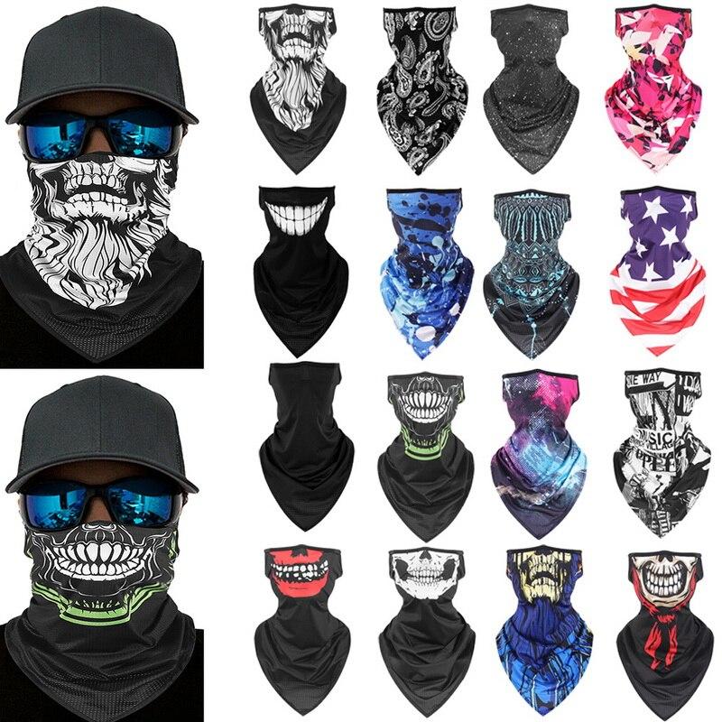 Face Cover Balaclava Scarf Neck Outdoor Sport Silk Earloop Tube Headband-trendymalldeals