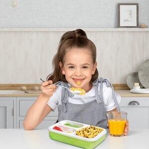 Image 3 - Szczelne pudełko na lunch oddzielne przedziały, w których można szkolne dla dzieci pojemnik bento pojemnik na jedzenie stołowe naczynia mikrofalowe pudełko na lunch dla dzieci