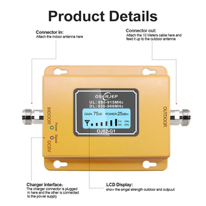 Image 3 - Cost effective  LCD Display GSM 900MHz Signal Repeater GSM Signal Booster 20dbm LCD Display Cell Phone Signal Booster Amplifier