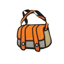 Creative New Fashionable 3D Drawing Cartoon Paper Comic Shoulder Crossbody School Bag Handbag for Women
