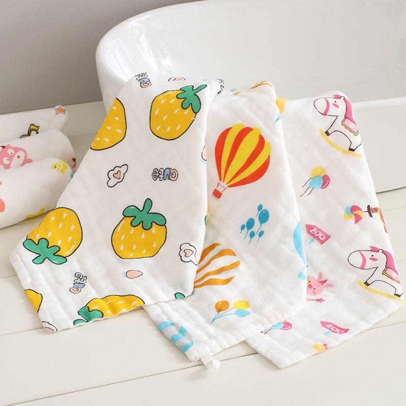 Купить с кэшбэком 4pcs/lot  Muslin baby Towel Cotton Soft Saliva Handkerchief Child Boy Girl Gauze Towel Baby Wash Towel Infant Feeding 4pcs/lot