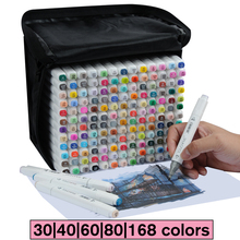 Touchfive 30/40/60/80/168 Doppia Headed pittura di arte della penna del contrassegno di vernice Alcol manga del fumetto graffiti schizzo marcatori arte set