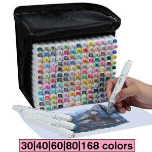 Image 1 - Touchfive 30/40/60/80/168 с двухголовой живопись на холсте маркером в наборе алкоголя краски манга стиле «граффити» из мультфильма; Эскиз маркер для рисования набор