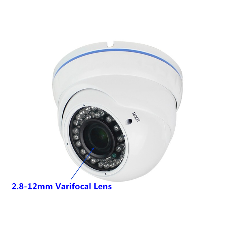 4xZoom Manual AHD Dome Security Camera 2MP 4MP Indoor 2.8-12mm Varifocal AHDTVICVICVBS 4 IN 1 Analog Infrared CCTV Cameras 3