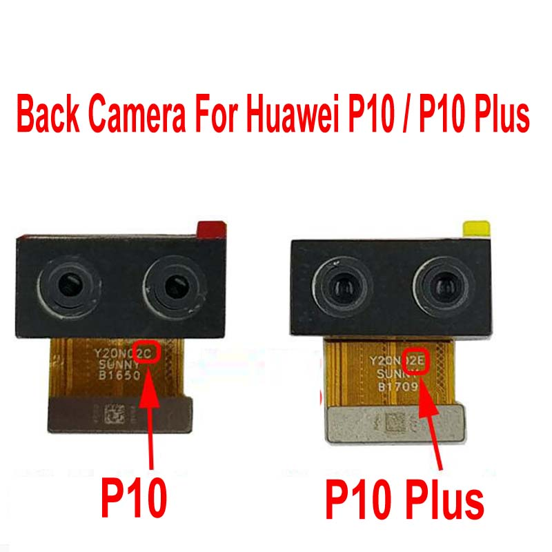100% Tested Working Main Big Rear Back Camera Module For Huawei P10 / P10 Plus Dual Camera Flex Cable Phone Repair Parts