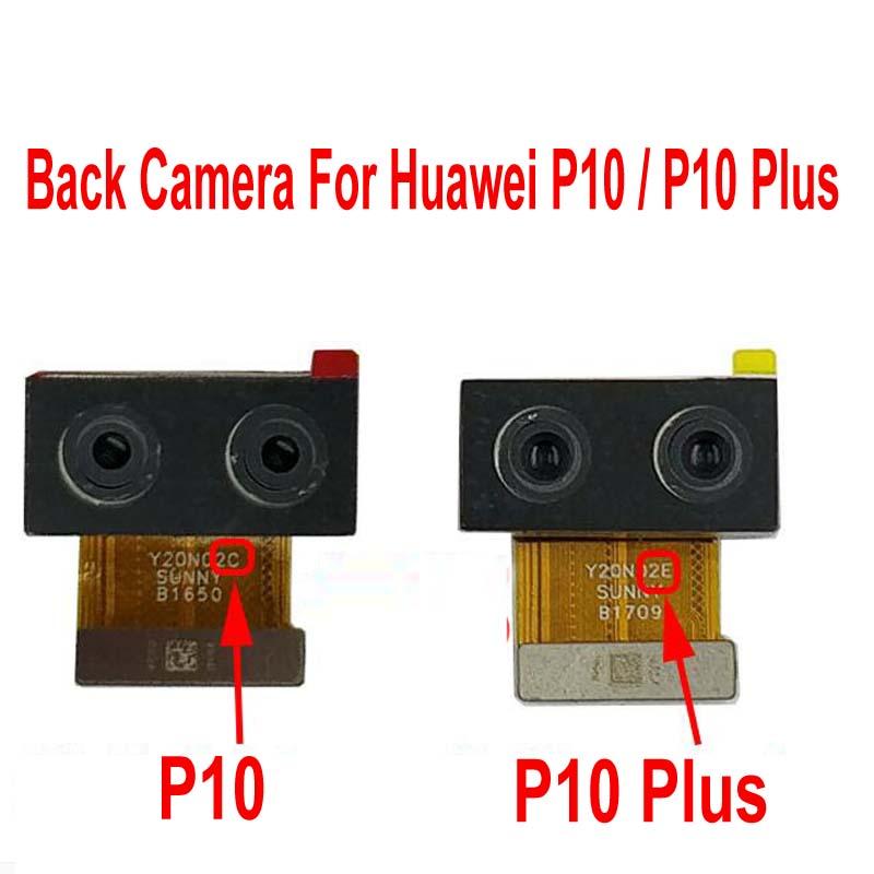 100% testado trabalhando principal grande traseiro voltar módulo da câmera para huawei p10/p10 plus dupla câmera cabo flex telefone peças de reparo