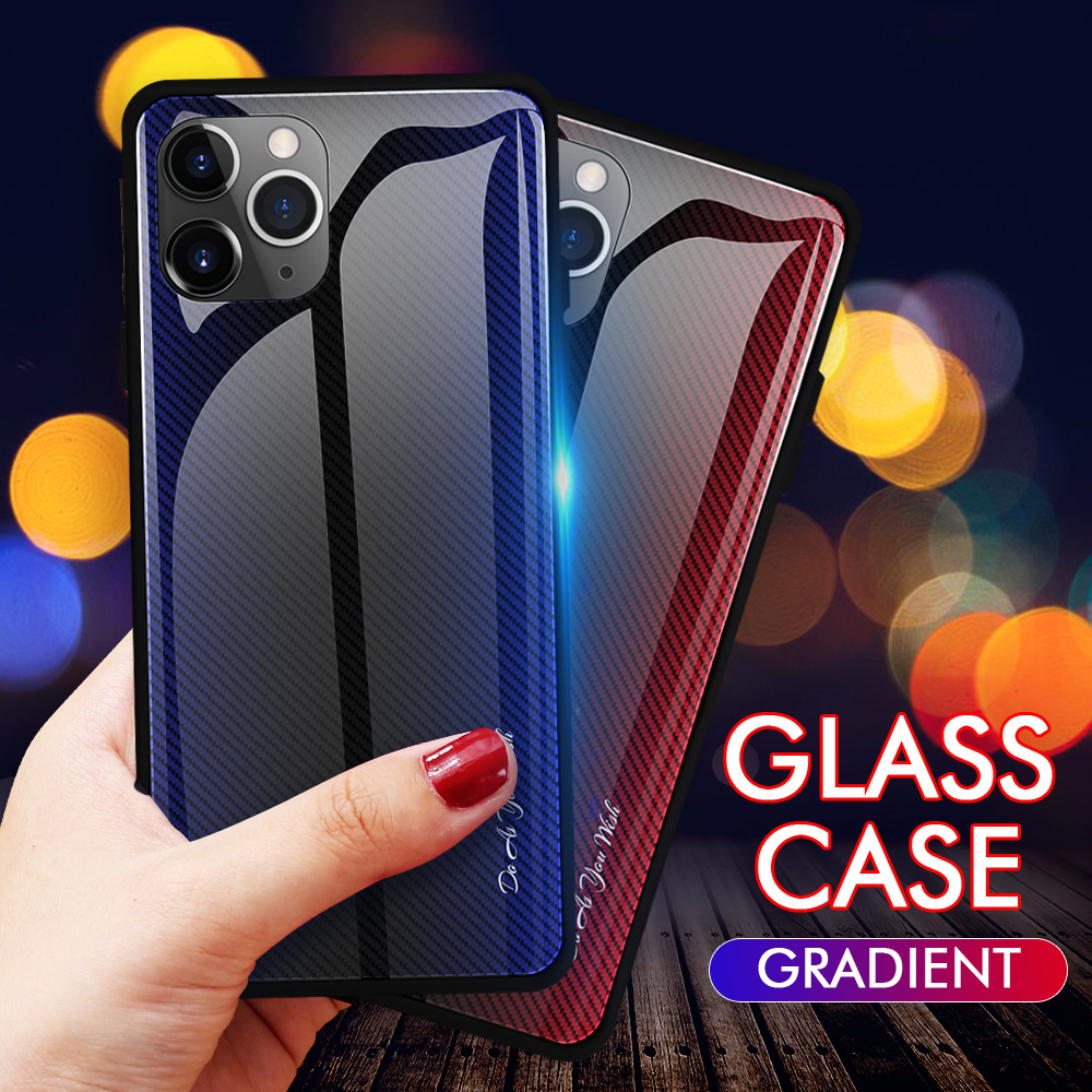 LECAYEE Super Tempered Glass Case for iPhone 11 Pro Max 7 6s 8 Plus XR Xs Max Coque Color Cover for iPhone XR X Xs MAX Cases (14)