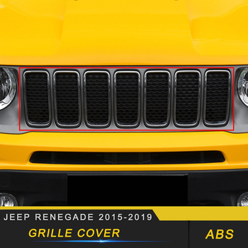 For Jeep Renegade 2015 2016 2017 2018 2019 Car Front Grille Grills Cover Trim Frame Decorations Exterior Accessories