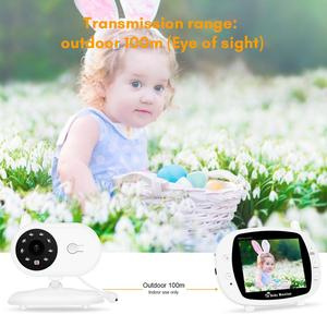 Image 3 - 3.5 Inch Draadloze Babyfoon Met Camera Hoge Resolutie Baby Nanny Bewakingscamera Nachtzicht Temperatuur Monitoring