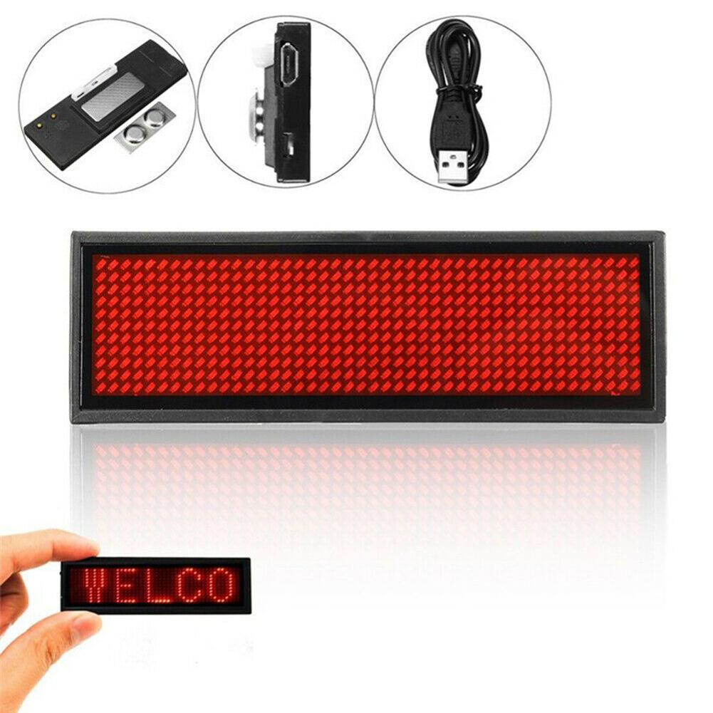 Wireless Mobile APP Bluetooth LED LED Name Badge Digital Programmable Glowing Board Letters Scrolling Board For Event
