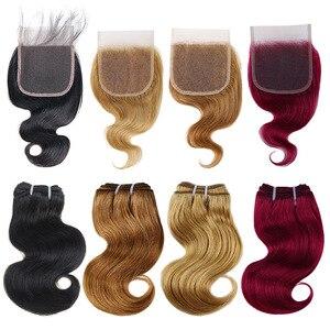 Image 5 - BHF 100% 인간의 머리카락 바디 웨이브 3pcs 로트 브라질 레미 50 그램/갑/팩 헤어 익스텐션 짧은 밥 가발 스타일