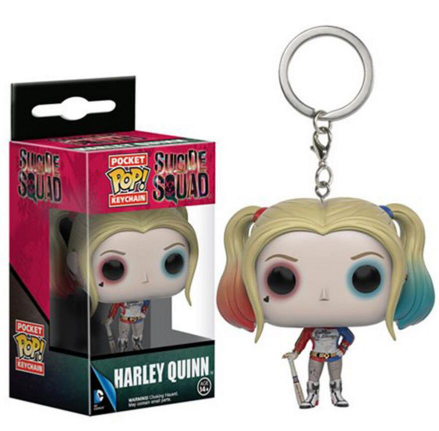 Funko Pop Pocket DC Suicide Squad Keychain Harley Quinn Action Figure Toys