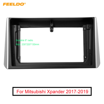 FEELDO Car Stereo Radio 9 Big Screen Fascia Frame Adapter For Mitsubishi Xpander 2Din Dash Audio Fitting Panel Frame Kit image