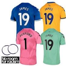 Новая футболка 2020 21 Эвертон Джерси Джеймс Doucoure Calvert-Lewin индивидуальная ID Футболка Высокое качество Джерси для мужчин